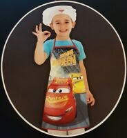 Official Disney Cars 3 Chef Apron and Hat Set Gift Cook Bake 3-8 Year Mcqueen