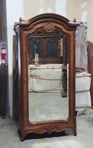 Antique French Louis XVI Style Single Door Armoire Wardrobe