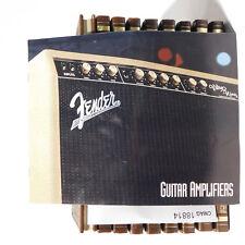 Fender Guitar Amplifiers catalog Brochure Vibro King 65 Twin Reverb Bronco Champ