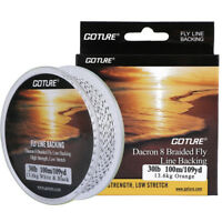 Goture 100M Low Stretch Fly Fishing Backing Line 8 Strands 20LB/30LB Fly Line