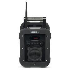 MEDION LIFE E66262 spritzwassergeschütztes IP44 Baustellenradio Bluetooth UKW/MW