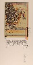 "Sascha Juritz: ""Erfahrung"". Aquarellierte Lithografie."
