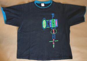 "Vintage Ocean Pacific Op T-Shirt XL 46"" (c)1990 Neon Print! GOOD Cond."