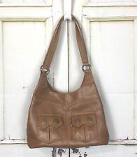 Levis Leather Purse Brown Handbag Shoulder Bag Pockets Retro Hippie