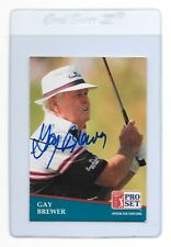 GAY BREWER Signed 1991 PRO SET Golf Card #230 PGA Tour 1967 MASTERS Champion