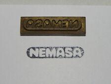 Alter Messing Stempel - Nemasa - Druckplatte ?            #1319