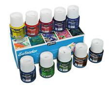 Pebeo Setacolor Léger Permanent Tissu Peinture Couleurs Assorties Set 10 X 45ml