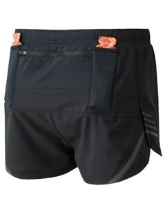 RONHILL Mens TECH CARGO RACER SHORT Lightweight Split Running Shorts Black LP£38