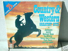 """***COUNTRY & WESTERN GREATEST HITS-12""""Inch Double-LP***"""