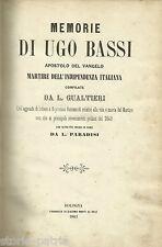RISORGIMENTO_UNITA' D'ITALIA_ROMAGNA_BOLOGNA_PALERMO_GARIBALDI_BASSI_GUALTIERI
