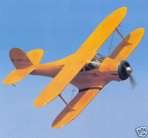 1/12 Scale Beechcraft Staggerwing D-17 Biplane Plans,Templates,Instructions 32ws