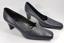 Clarks cushion soft navy leather mid heel shoes ul 7 super condition