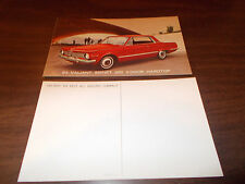 1964 Plymouth Valiant Signet Two-Door Hardtop Advertising Postcard