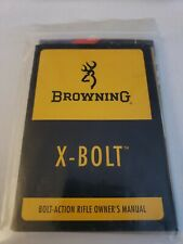 New Browning X-Bolt Bolt Action Rifle Owners/Instruction Manual, Nra