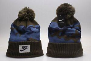 New Nike Arcylic Winter Knit Beanie Cuffed POM Adult Unisex - One Size