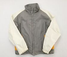 Burton Full Zip Gray Yellow White Mens Size Medium Snowboard Ski Winter Jacket