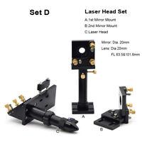 CO2 Laser Head Set 63.5 &101mm Mirror 20 Focal Focus Lens 20 Integrative Mount
