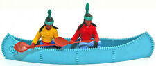 Two Timpo Indians in a Blue Canoe 54mm Original Toy Soldiers poses & colors vary