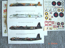 """SHORT STIRLING/AW WHITLEY """"4 RAF"""" ESCI DECALS 1/72"""