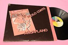PAOLO CONTE 2LP AGUAPLANO ORIG ITALY 1987 EX GATEFOLD COVER