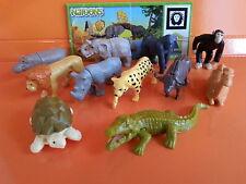 KINDER FERRERO SURPRISE SERIE COMPLETA NATOONS WILD AFRICA ANIMALS +1 CARTINA