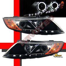 Black CCFL Halo R8 LED Strip Projector Headlights For 10 11 12 13 Kia Optima