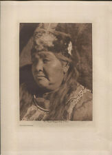 E.S.CURTIS PHOTOGRAVURE, KLAMATH MATRON. 1923.