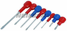 8 Piece Cabinet Screwdriver Set slotted & philips cross - Magnetic Tips