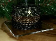 Stainless Steel Army Theme Frosted Toho Seed Memory Wire Crystal Star Bracelet