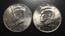 ESTADOS UNIDOS HALF DOLLAR 2005 D+P KENNEDY 2 COINS United States USA 1/2 Dolar