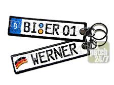 Schlüssel-Anhänger mit deinem KFZ-Kennzeichen + Name DAS individuelle Geschenk
