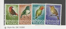 Togo, Postage Stamp, #C36-C38, C40 Mint Hinged, 1964 Birds