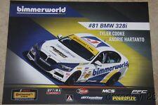 2015 bimmerworld #81 BMW 328i ST IMSA CTSC postcard