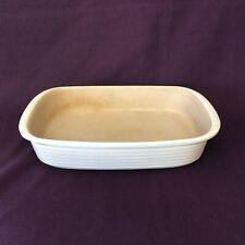 Pampered Chef Stoneware Family Heritage 9 x 13 Rectangle Baker Ivory Baking Dish