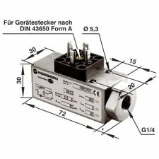 Norgren 0880400 18d Neumático Interruptor de presión G1/4 puertos 1 to 16 bar