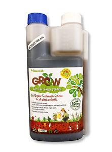 Grow Liquid 100% Organic Fertiliser 1L Plant Garden Food Organic Seedlings Veges