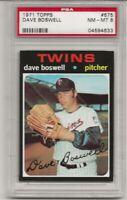 SET BREAK -1971 TOPPS #675 DAVE BOSWELL, PSA 8 NM-MT, MINNESOTA TWINS, HIGH #