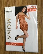 """Mona"" Viola Top Quality 20 Denier Grafit (Dark Grey) Tights, Size 4 (UK Large)"