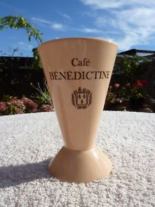 Cafe Benedictine Liqueur Cafe Ceramic French Cup Goblet Ornamental