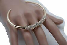 Cuff Fashion Pretty Jewelry Bling Size 7 Women Gold Metal Ring Bold Moon Funky