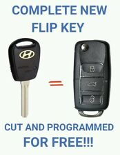 Complete New Flip Key for Hyundai iLoad iMax 2007 to 2015 FREE CUT & PROGRAMMING