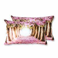 Coppia Federe Per Guanciale Romantic Floreale Primavera I Love Sleeping Stamp...