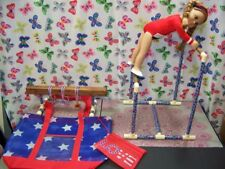 "BARS & BEAM GYMNASTIC SET fits American Girl Doll & all 18"" dolls Mats Carry Bag"