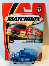 MATCHBOX MB48 HUMMER POLICE BLUE with OPENING REAR HATCH