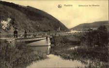 Feldpostkarte 1. WK Feldpost-AK Belge Hastière Meuse 1915 Stempel Lazarett Namur