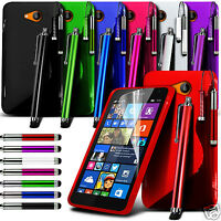 S Line Wave Gel Skin Case Cover & Triple Stylus Pen Set For Various Phones