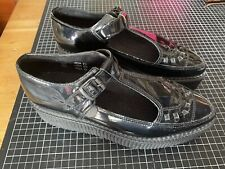 Underground Apollo Black Patent Leather Creepers UK5.5 Nearly New T-bars Sandals