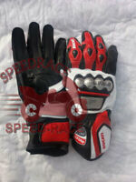 MotoGp Ducati  Motorbike Leather Gloves All Sizes Available