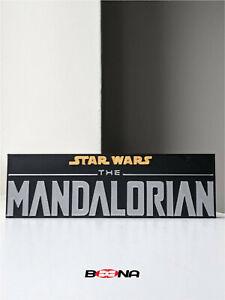 Decorative THE MANDALORIAN self standing logo display  STAR WARS