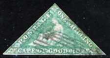 CAPE OF GOOD HOPE 1863-4 One Shilling Emerald Green Wmk Anchor SG 21 VFU